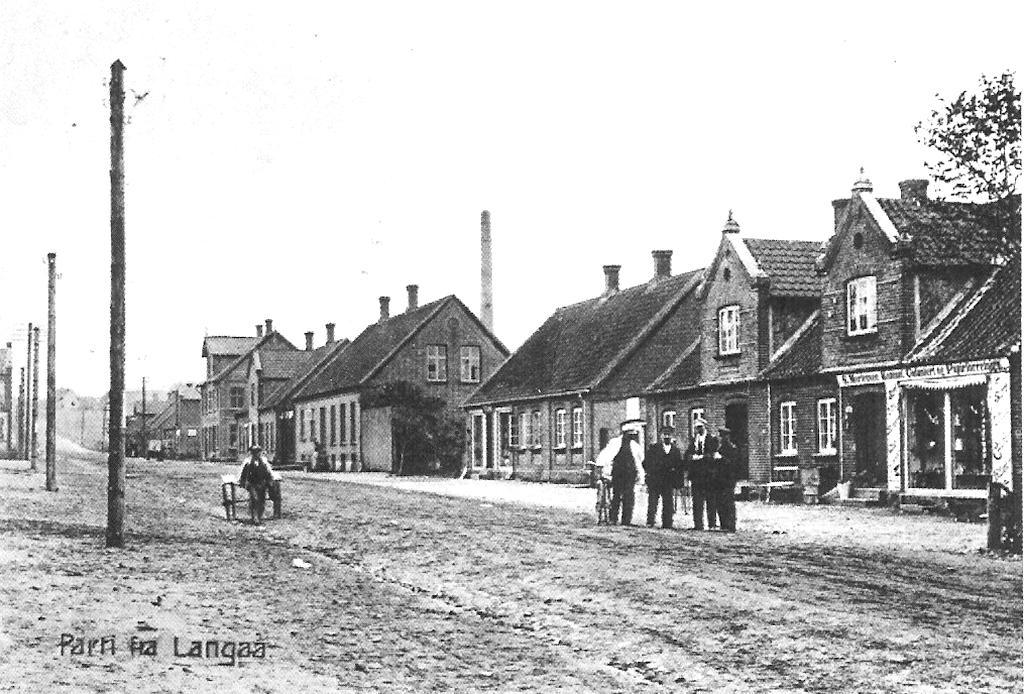 Parti fra Langå ca.1900