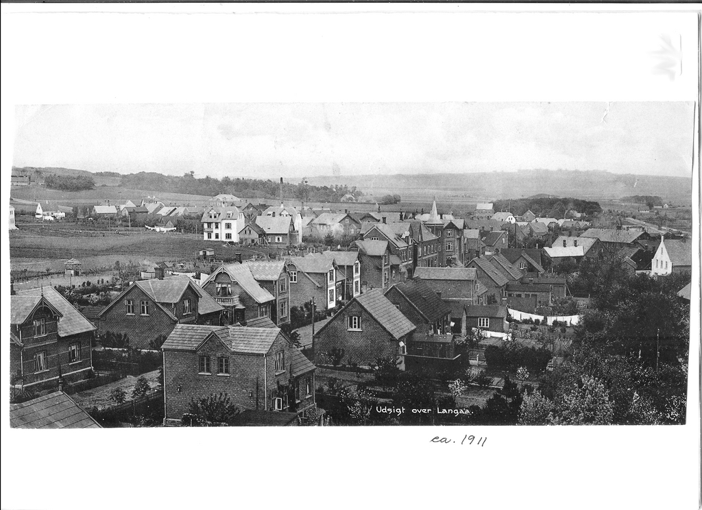 Udsigt over Langå ca. 1911